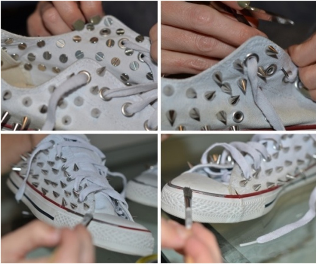 Bez Ayakkabıyı Dantelle Süslemek Resimli Anlatım